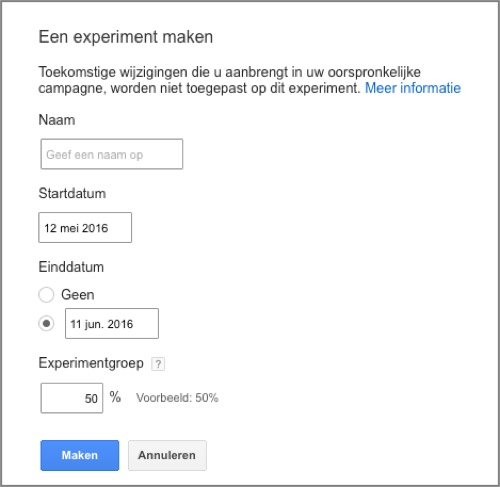 adwords experiment