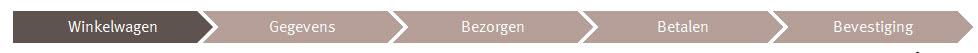 Stappen Online betaalproces