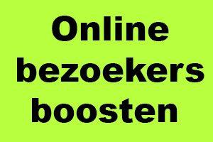 Online bezoekers boosten