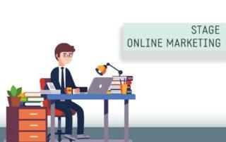 Online marketing stage