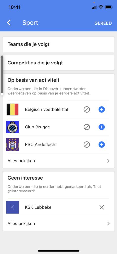 Google discover in de praktijk